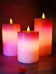velas dotty ™ natal dupla levou velas flamless, 18keys controle remoto, opção 12 cores mudando, pacote de 3