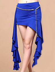 Dança do Ventre Vestidos e Saias Mulheres Actuação Fibra de Leite Pano 1 Peça Saia