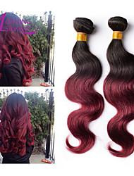 утром шелк 6а бразильский девственные волосы естественная волна расширения Ombre волос 3 шт много Ombre волос ткать