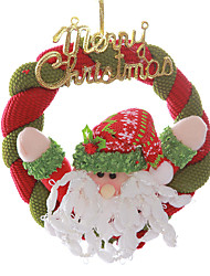 "8"" Merry Christmas Wreath Santa Claus Hanging Xmas Tree Decoration"