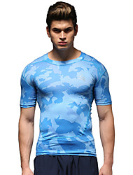 Running Tops Men's Breathable Running Sports Sports Wear Sky Blue S / M / L / XL / XXL