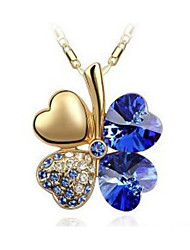 Casual Gold Plated / Silver Plated / Gemstone & Crystal Pendant Necklace
