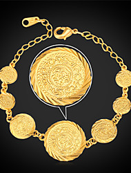 Vogue Vintage Coin Bracelet Fashion Jewelry Islamic Muslim Ancient Jewelry 18K Gold Plated for Women High Quality