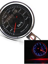 LED cool lumière universelle compteur kilométrique du compteur de vitesse pour la moto km / h