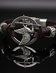 Men Bracelet European Style Phoenix  Leather Bracelet