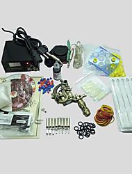 kit de tatouage machine 1 des armes à feu avec poignées empaistic d'alimentation de retour découlent tube de couleur 20mlx1 aiguilles