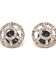Earring Stud Earrings Jewelry Women Alloy / Acrylic / Rhinestone 2pcs Black