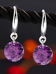 Earring Drop Earrings Jewelry Women Cubic Zirconia 2pcs Silver
