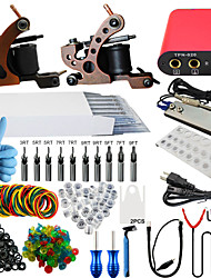 ITATOO® Professional Tattoo Kits 2 10 Wrap Coil Tattoo Machines 50 Tattoo Needles with Free Gift of 20 Pigment