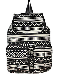 Unisex Canvas Casual Backpack Multi-color
