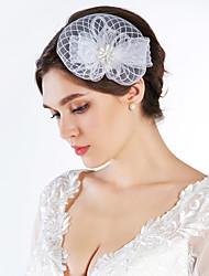 Women's Rhinestone / Imitation Pearl / Net Headpiece-Special Occasion Fascinators