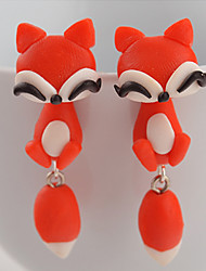Earring Animal Shape Stud Earrings Jewelry Women Daily / Casual Silicone 2pcs Red / Orange