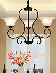 Ecolight™ 3 Lights Retro Chandeliers/ Country Living Room / Study Room/Office / Hallway Metal