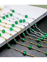 Women's Chain Bracelet Silver / Sterling Silver Jade