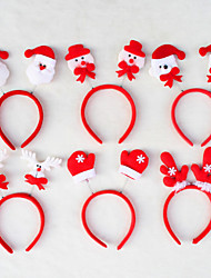 New Child and Adult Headwear Santa Christmas Decration Head Band for Christmas Party New Gift Xmas(Random Color)