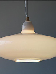 Milk White Glass Bottle Pendant Lamp Natural Curve A