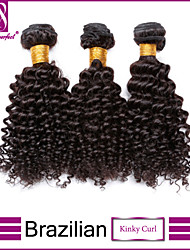 Natural Color Hair Weaves Brazilian Texture Kinky Curly 3 Pieces hair weaves