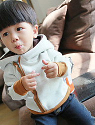 Boy's Cotton Winter Long Sleeve  slanting  Zipper  Thicken  Hoodie & Sweatshirt