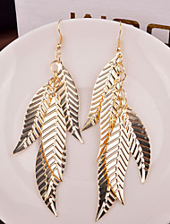 Top Quality Hollow Out Leaf Shape Drop Earrings for Wedding Party