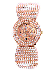 Women's Full Diamond Rectangle Dial Steel Band Quartz Analog Wrist Watch  Rose Gold watches Cool Watches Unique Watches