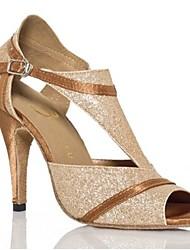 Sapatos de Dança ( Castanho ) - Mulheres - Não Personalizável - Latim