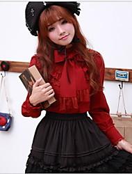 sweet lolita rood / wit / zwart / ink blauw / koffie blouse