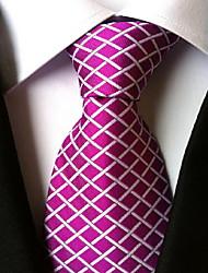 Men Wedding Cocktail Necktie At Work Rose Red White Tie
