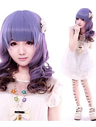 Europe Mixed Color Beautiful Curly Synthetic Wigs