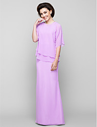 Lanting Bride® Trumpet / Mermaid Mother of the Bride Dress Floor-length Half Sleeve Chiffon with