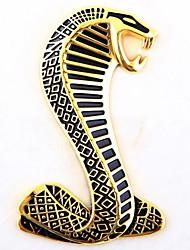 Autocollant de voiture 3d Car Styling décor métallique emblème badge serpent or / argent