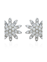 Stud Earrings Imitation Pearl Rhinestone Alloy Fashion 1# 2# Jewelry Wedding Party Daily Casual 1 pair