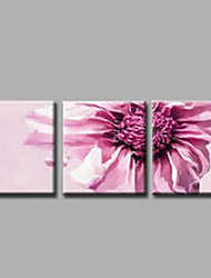 Ready to Hang Hand-Painted Oil Painting on Canvas Wall Art Contempory Abstract Flowers Pink Roses Three Panels