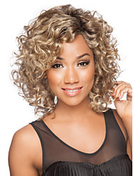 Hot Selling Blonde  Syntheic Wigs Extensions  Women's Favourite Style Is Kinky Curly