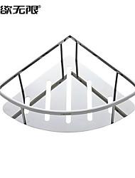 weiyuwuxian® poli salle de bains en acier inoxydable panier support étagère contemporaine
