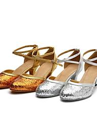 Women's Dance Shoes Belly / Latin / Dance Sneakers / Samba Leatherette / Sparkling Glitter / Paillette / SyntheticCuban