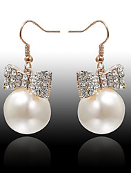 Earring Drop Earrings Jewelry Women Wedding / Party / Daily / Casual Alloy / Imitation Pearl / Rhinestone 2pcs White