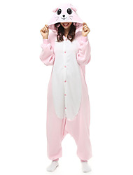 Kigurumi Pajamas Mouse Leotard/Onesie Halloween Animal Sleepwear Orange Patchwork Polar Fleece Kigurumi Unisex Halloween