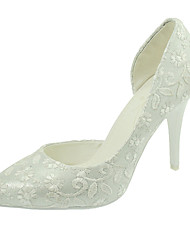 Women's Spring Summer Fall Customized Materials Wedding Dress Party & Evening Stiletto Heel White