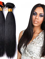 """3 faisceaux 8 """"-28"""" péruvien cheveux vierges naturelle droite armure noire non transformés de cheveux humains"""