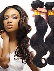 """4 feixes de tecer cabelo humano 8 """"-26"""" cabelo virgem naturais onda corpo negro brasileiro não transformados"""