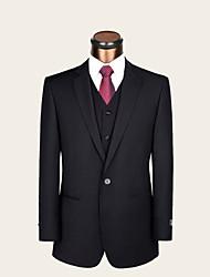 Costume ( Noir , Laine / Viscose , 2 Pièces ) Coupe Standard