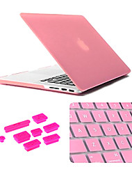 3 in 1 Matte Case with Keyboard Cover and Silicone Dust Plug for Macbook Pro 13.3 inch (Assorted Colors)