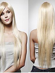 Europa e gli Stati Uniti parrucca femminile capelli lunghi e lisci capelli d'oro parrucche sintetiche vendono