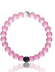 pulsera de silicona, rosa