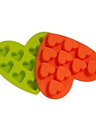 Heart-Shaped Mold Silicone IceTrays Random Color