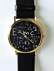 Mulheres Relógio de Moda Quartzo PU Banda Relógios com Palavras Branco Preto Marron