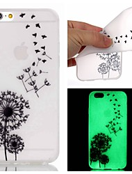 For iPhone 5 Case Glow in the Dark Case Back Cover Case Dandelion Soft TPU iPhone SE/5s/5
