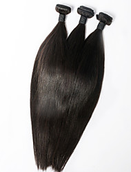 3pcs/lot 16inch Human Remy Hair Silk Straight Hair Weft Brazilian Virgin Hair Extensions 100% Human Hair Weaves