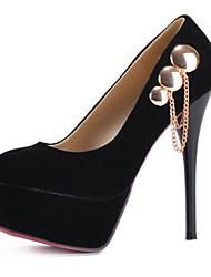 Women's Spring / Summer / Fall / Winter Heels Fleece Wedding / Dress / Party & Evening Stiletto Heel Black / Red