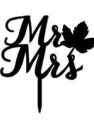 The Maple Leaves Mr  and Mrs Cake Topper